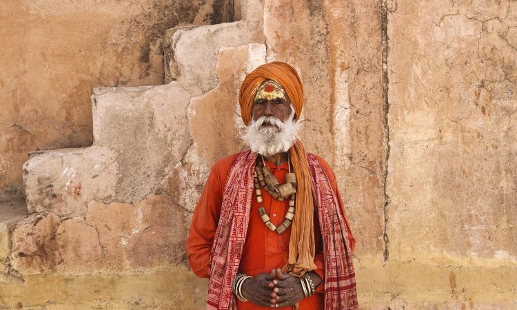 Indian Sadhu at Amber Fort