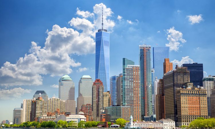 New York Skyline with One World Trade Center