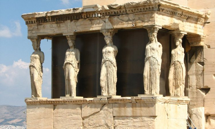 Caryatids at the Erechtheion, Athens