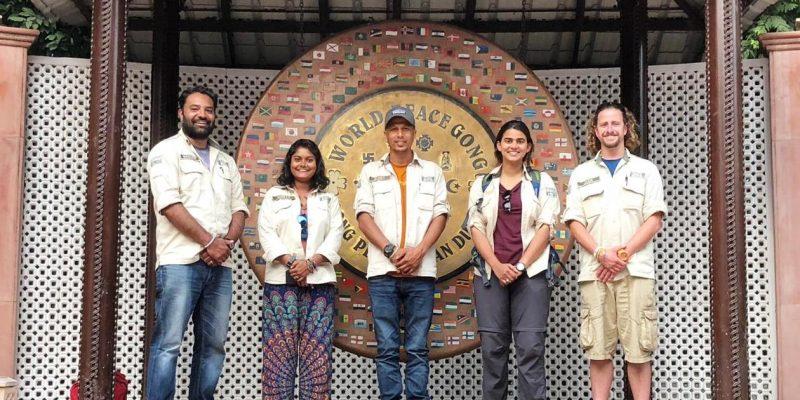 India Team at Gandhi
