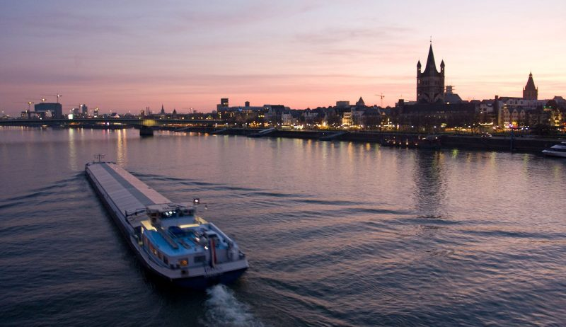 The Rhine at Dusk